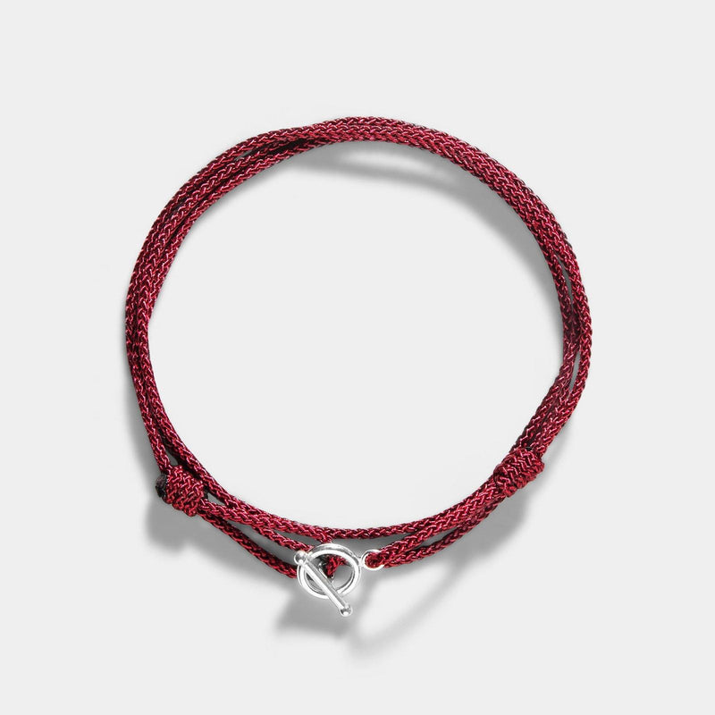 Oskar Gydell Burgundy Red Nylon Rope Bracelet