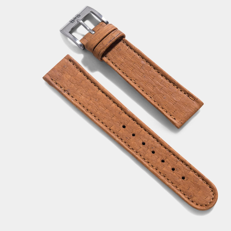 Peccary Brown Heritage Leather Watch Strap