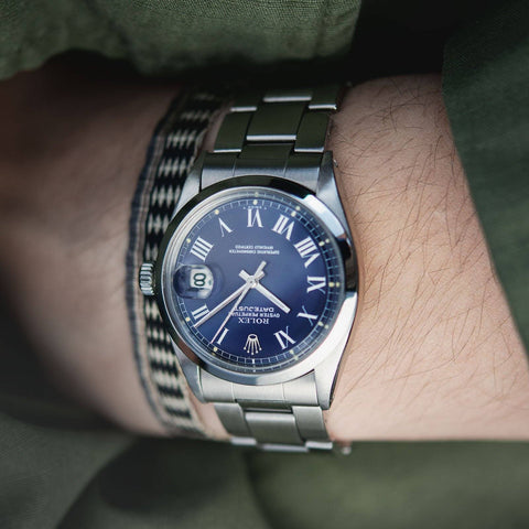 Rolex Datejust Reference 1600 Blue Buckley Dial