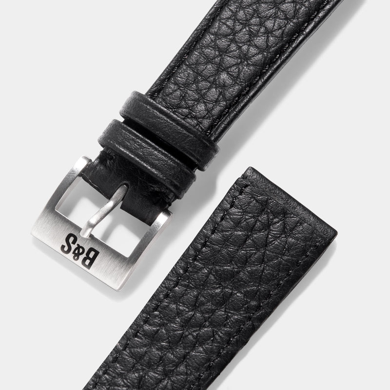 Taurillon Black Speedy Leather Watch Strap