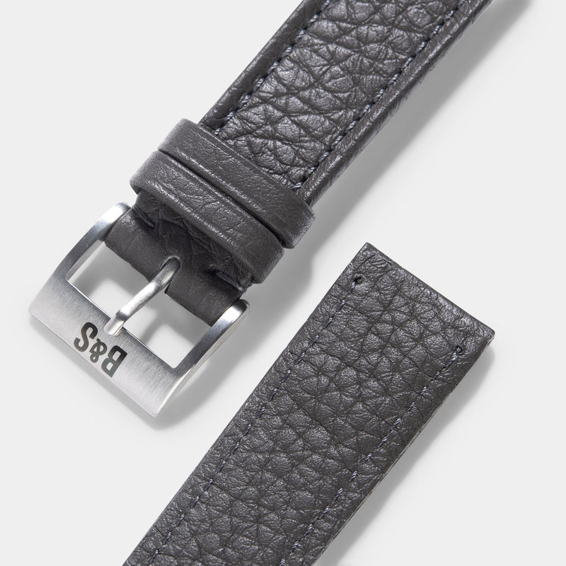Taurillon Grey Heritage Leather Watch Strap