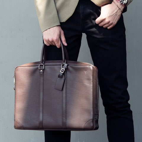 Louis Vuitton Porte Documents Voyage Brown Epi