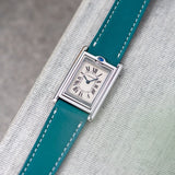 Mistral Blue Leather Watch Strap