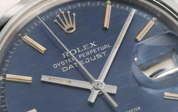 Rolex Datejust Blue Brick Dial Reference 1600