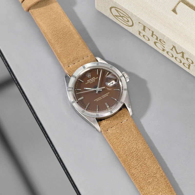 Rolex Camel Brown Silky Suede Watch Strap