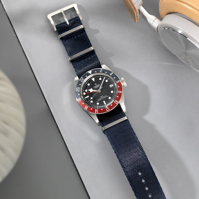 Rolex Deluxe Nylon Nato Watch Strap Navy Blue