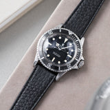 B&S Taurillon Black Speedy Leather Watch Strap on a Rolex 5513 Submariner Black