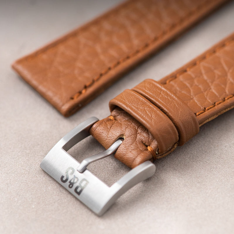 Taurillon Brown Speedy Leather Watch Strap