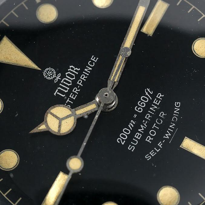 Tudor Submariner Underline Gilt Dial Reference 7928