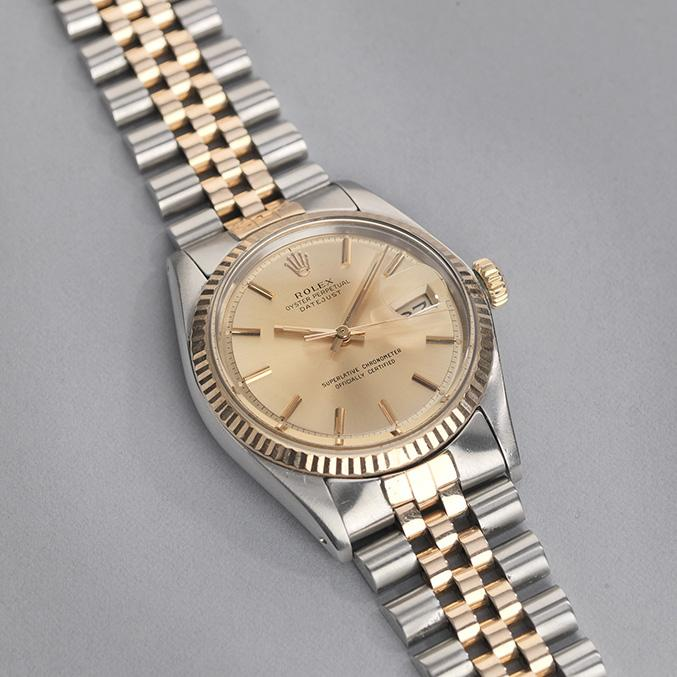 Rolex Two Tone Rose Gold 1601 Datejust