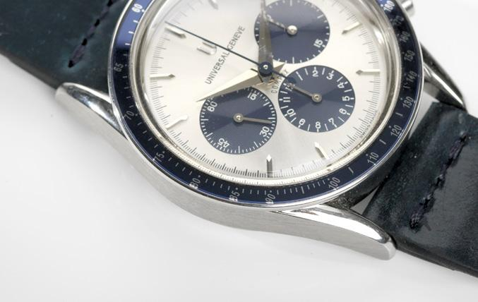 Universal Geneve  Blue Compax Reference 884.495