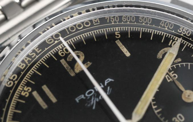 Large Rona Sport Ref 1505 1950s Gilt Scale Chrono