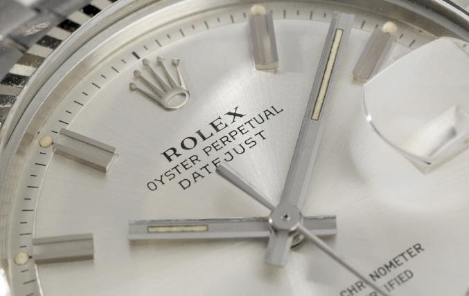 Rolex Datejust Wide Boy Dial Ref. 1601 with papers