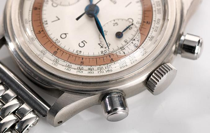 Arsa Step Case Chronograph 1950s Two Tone Dial