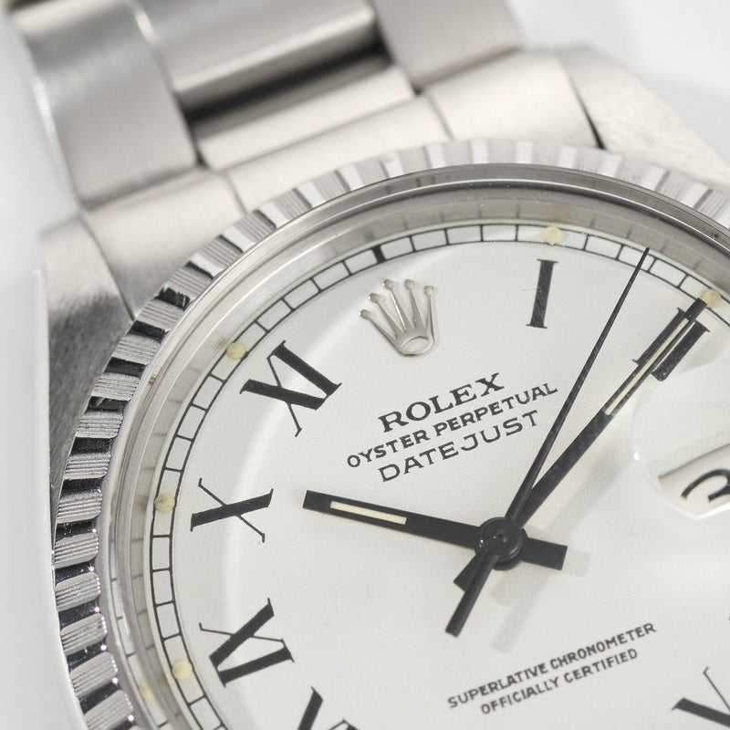Rolex Datejust Reference 1603 White Buckley Dial