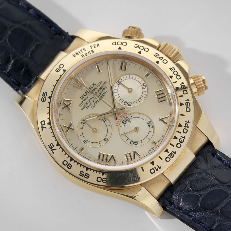 Rolex Daytona Yellow Gold 116518 Mother of Pearl