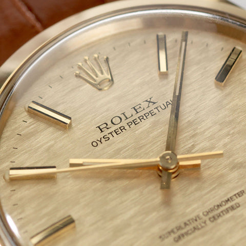 Rolex Oyster Perpetual Yellow Gold ref 1002