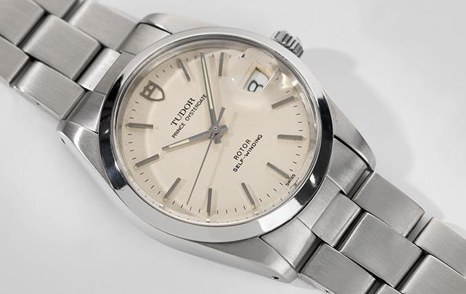 Tudor Oysterdate Off-white Linen Dial Reference 74000n