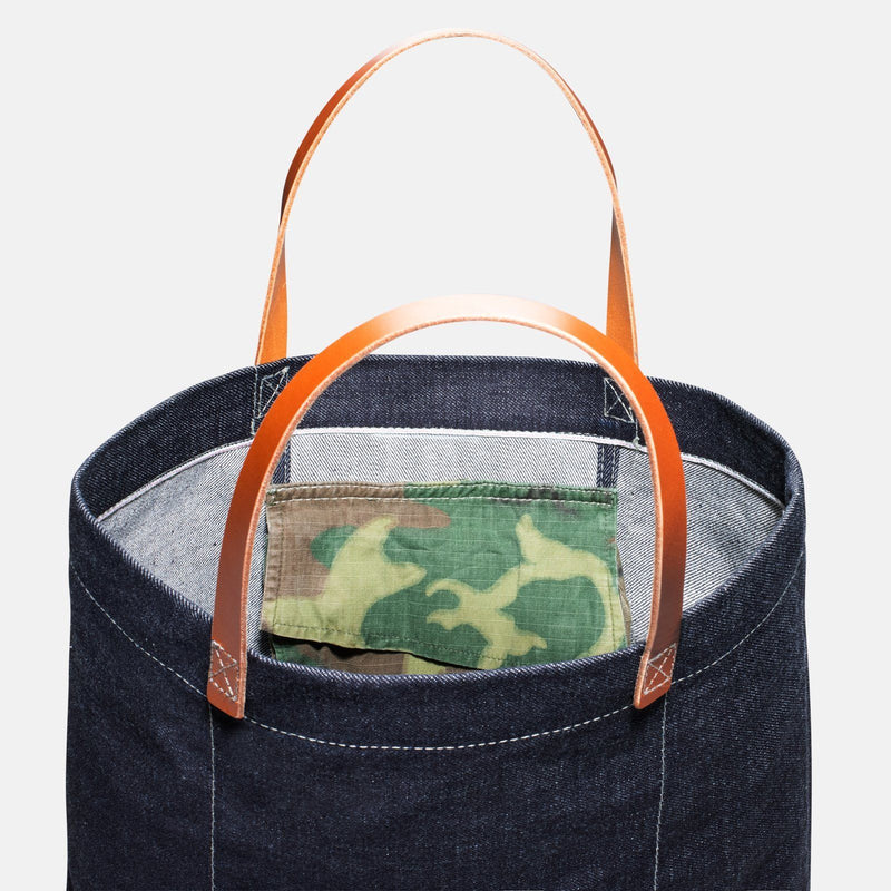 Custom Japanese Salvage Denim Tote Bag 2