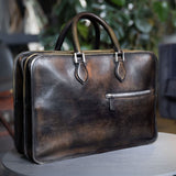 Berluti Large Briefcase Venezia Dark Grey