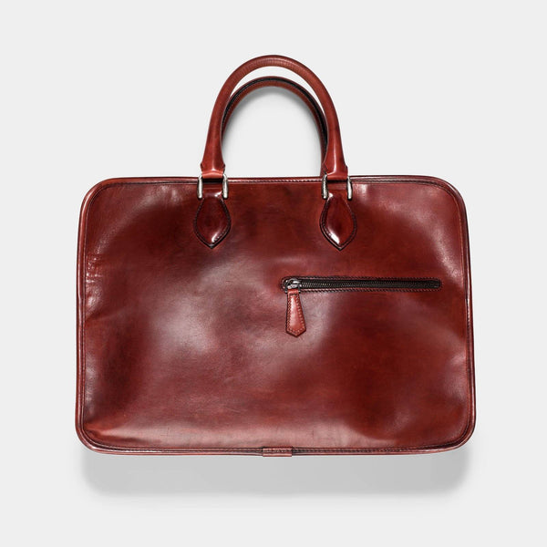 Berluti Deux Jour Large Briefcase Venezia Red