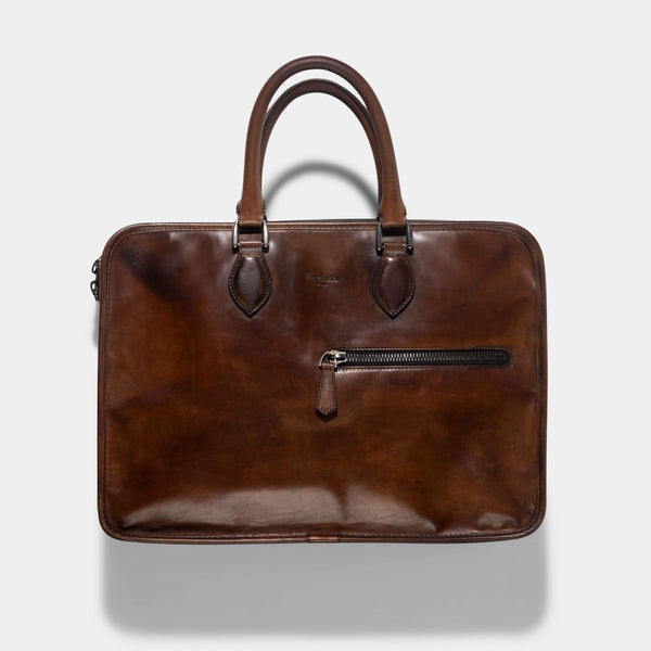 Berluti Un Jour Briefcase Venezia Brown