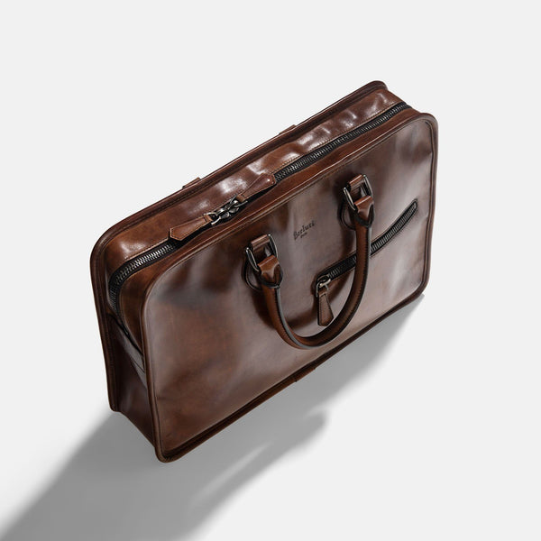 Berlutti Un Jour Briefcase Venezia Brown 3