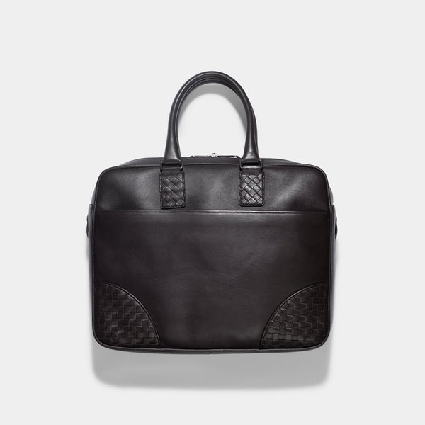 BOTTEGA VENETA BROWN INTRECCIATO BRIEFCASE