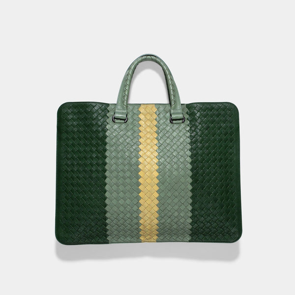Bottega Veneta Intrecciato Multicolor Business Bag