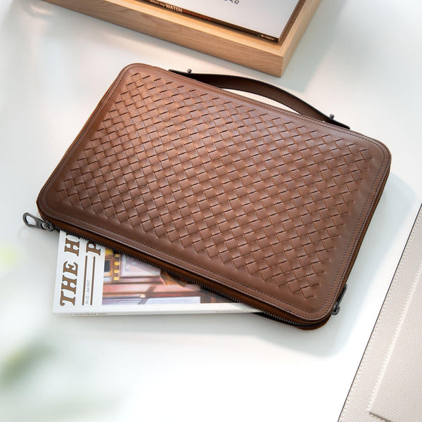 Bottega Veneta Woven 2way Document Case