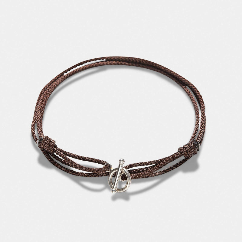 Oskar Gydell Brown Nylon Rope Bracelet