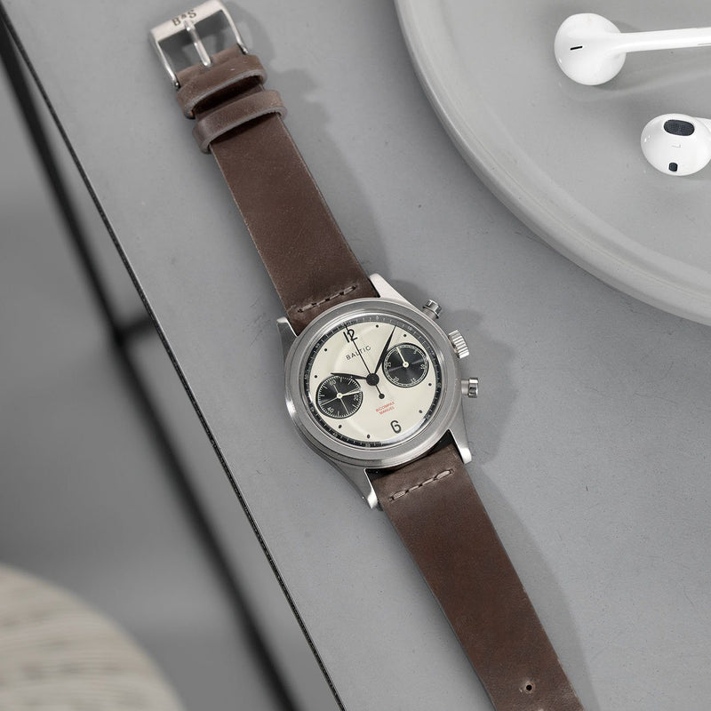 Baltic Chronograph Cavallo Faded Brown Cordovan Leather Watch Strap