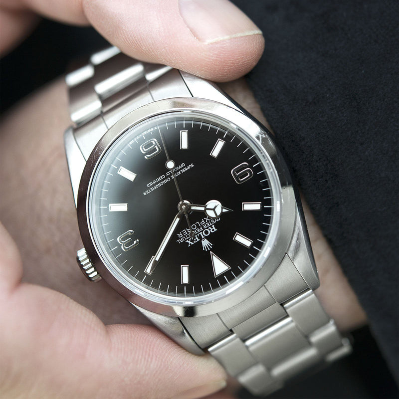 Rolex Explorer 14270 'Black Out Dial B&P