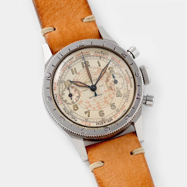 Gallet Chronograph 1940s Flying Officer