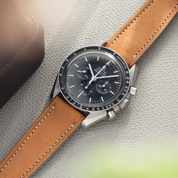 Montmartre Brown Leather Watch Strap Speedmaster Professional Omega