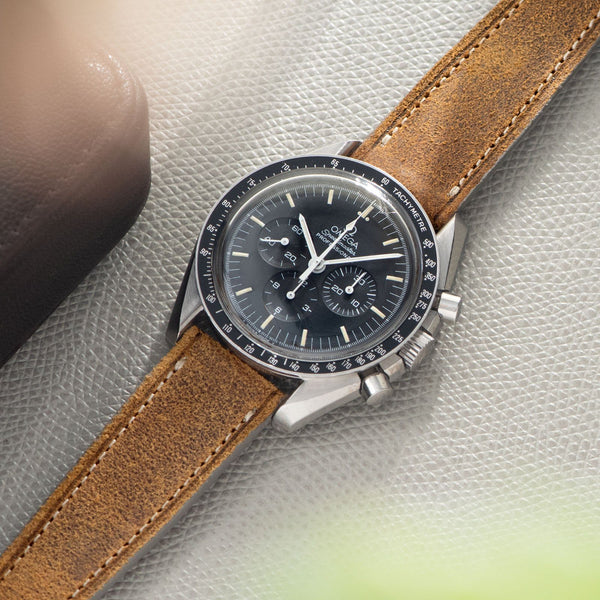 Le Marais Brown Leather Watch Strap Omega Speedmaster Professional