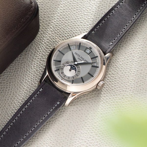 En Vogue Grey Leather Watch Strap