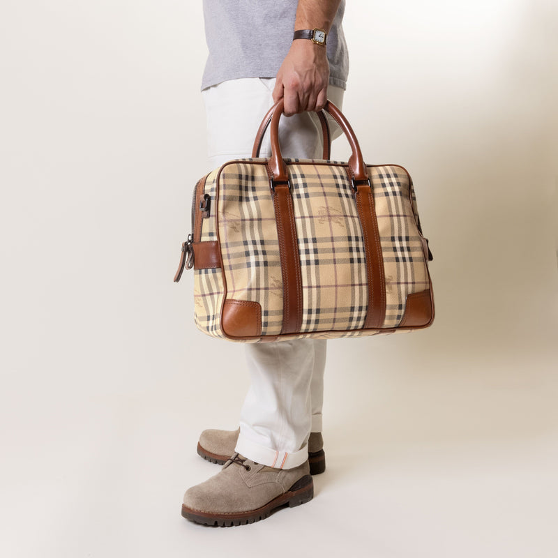 BURBERRY Haymarket Check Business Bag