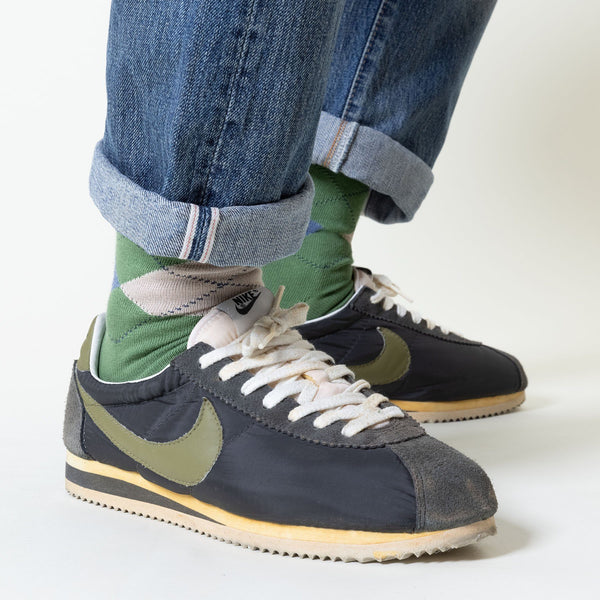 Burlington Khaki Green King Socks