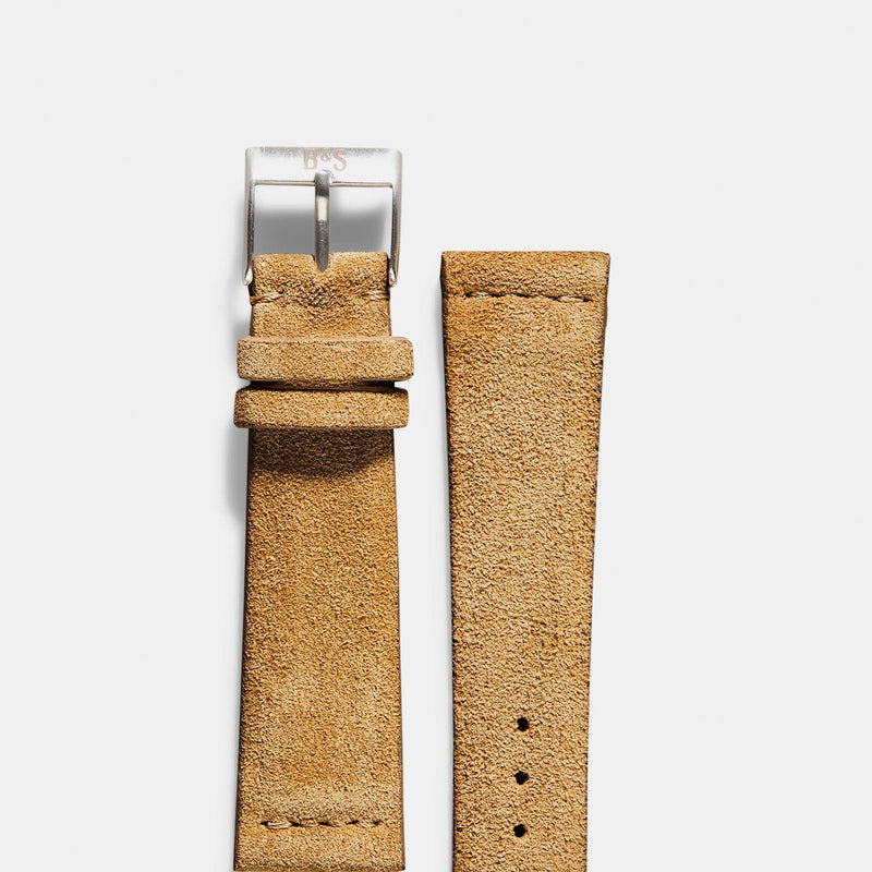 Camel Brown Silky Suede Watch Strap