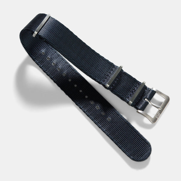 Deluxe Nylon Nato Watch Strap Navy Blue
