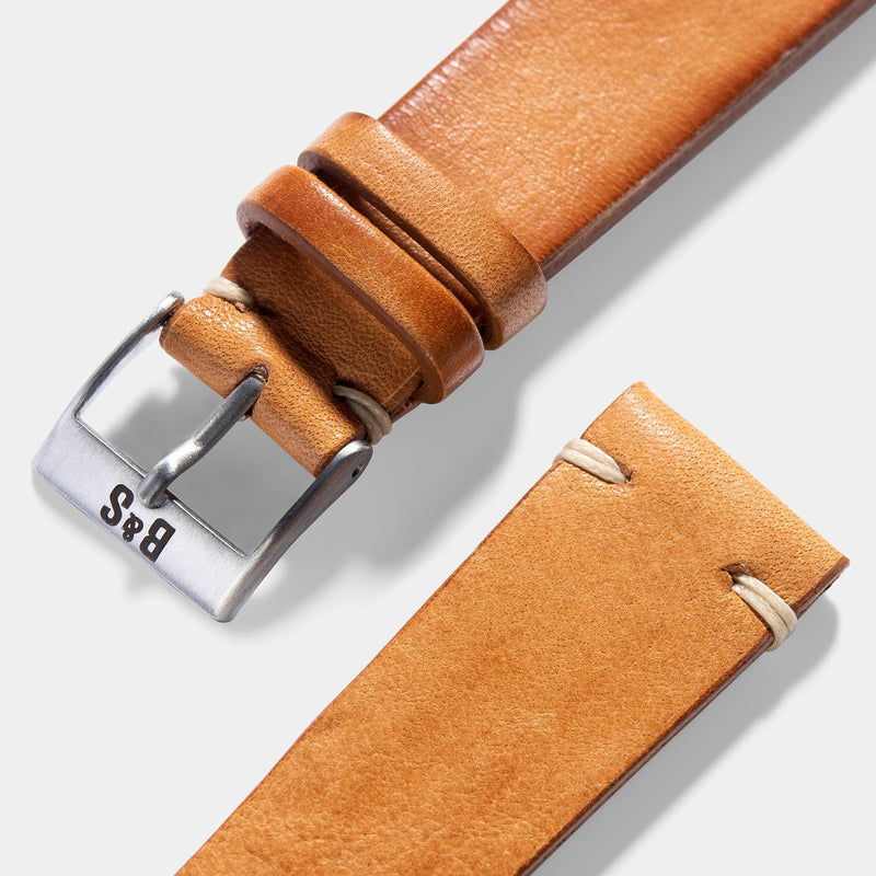 Caramel Brown Leather Watch Strap