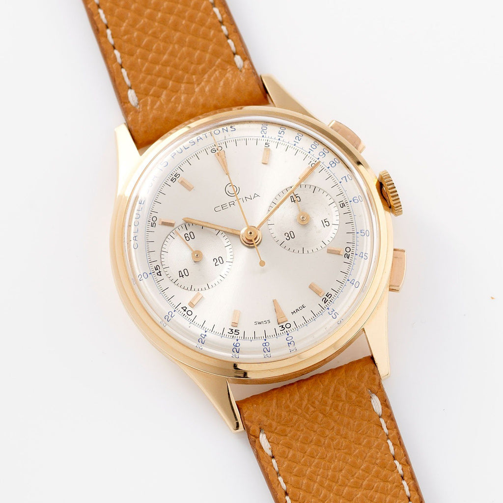 Certina Red Gold Pulsometer Chronograph 1940s