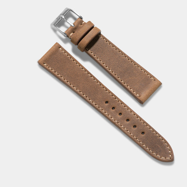Cinnamon Brown Leather Watch Strap