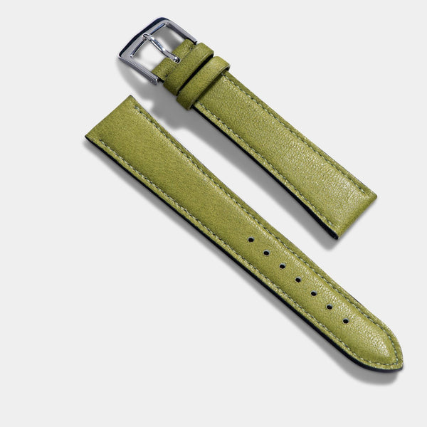 City Green Leather Watch Strap