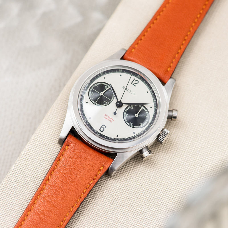 City Orange Leather Watch Strap Baltic