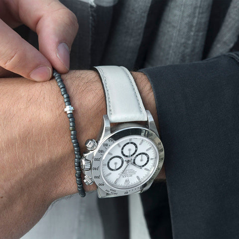 City White Leather Watch Strap Rolex Zenith Daytona