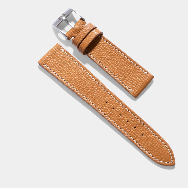 Cognac Brown Leather Watch Strap