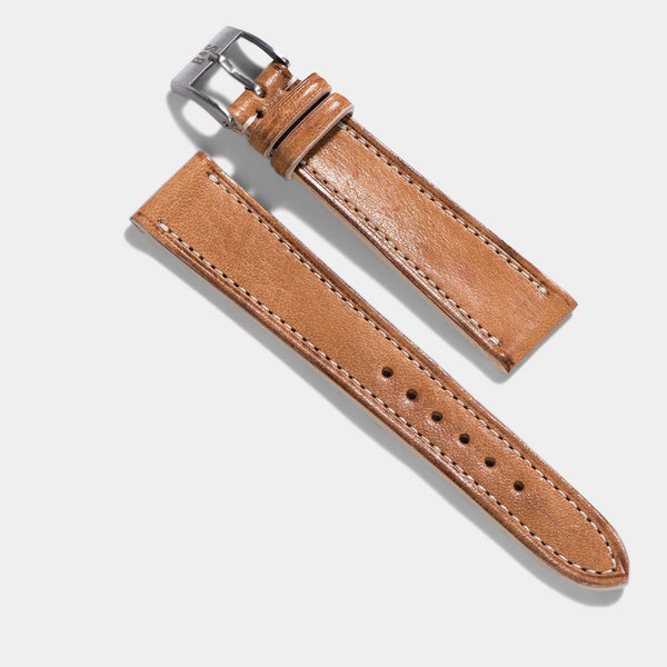 Cosaro Brown Retro Leather Watch Strap