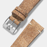 Crackle Brown Leather Watch Strap